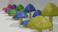 3D mushroom fungu plant