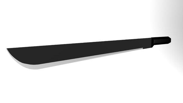 3D model machete weapon