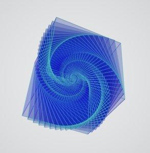 3D model cube galaxy