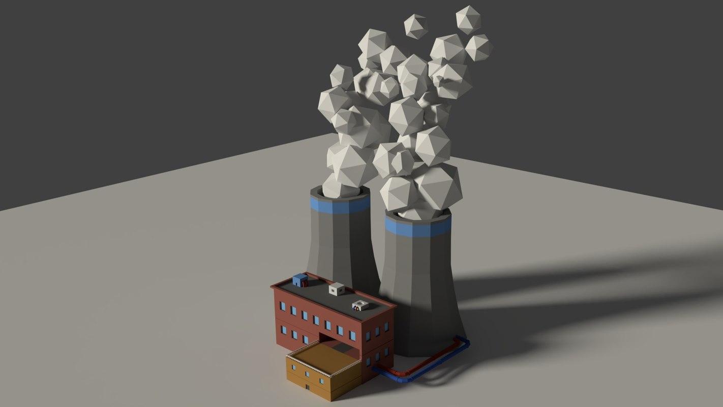 cartoon factory 3D model