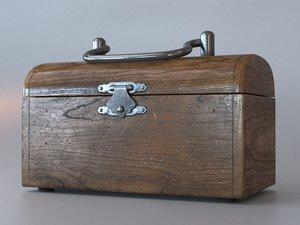 3D model chest wood