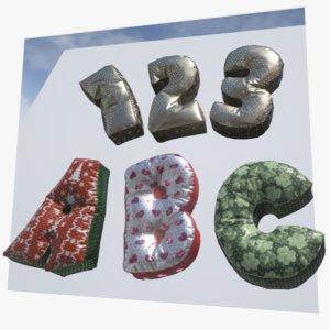 decorate balloons alphabet unity 3D