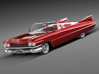 Cadillac Eldorado 62 series 1959 convertible midpoly
