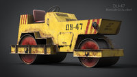 soviet du-47 rollers road asphalt 3D model