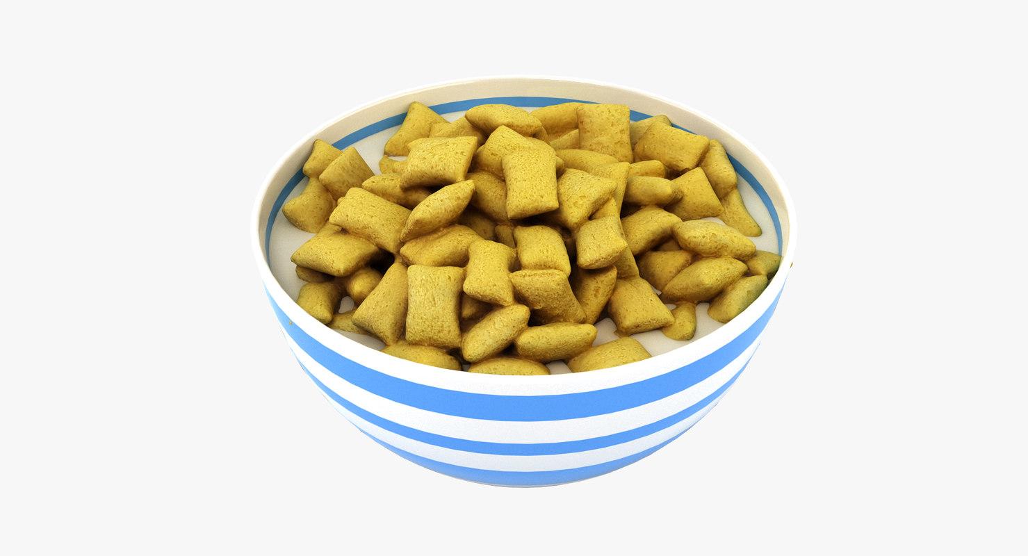 bowl cereal 3D model