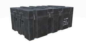 3D military crate model