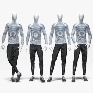 3D nike male sport suit