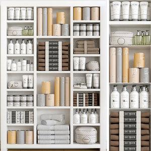 3D cupboard towel soap