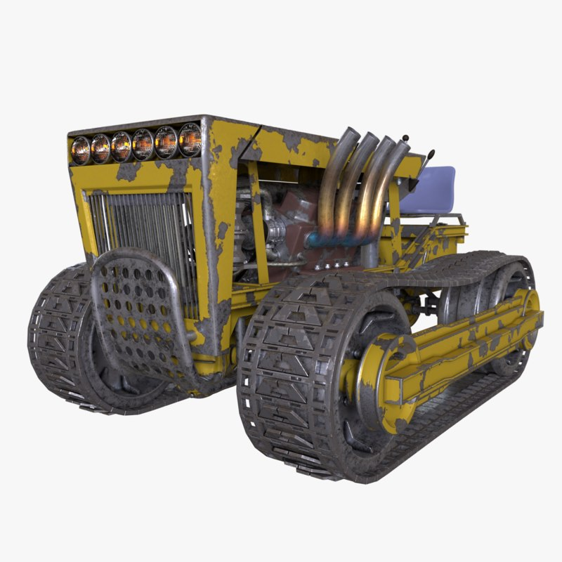 3D tractor tracks model