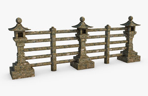 fence asian asia 3D