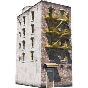 3D building architecture structure
