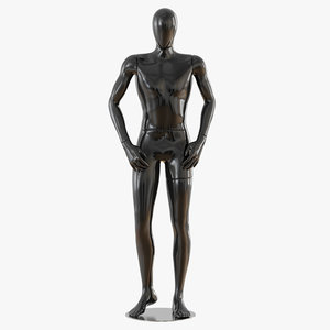 faceless male mannequin 3D model