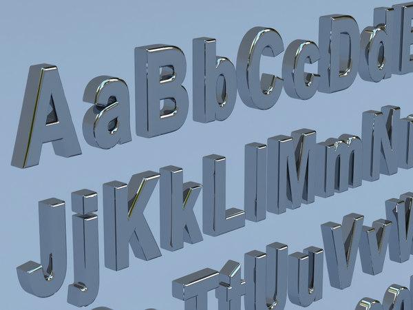 3D letters symbols