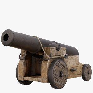 3D vessel cannon 20ft model