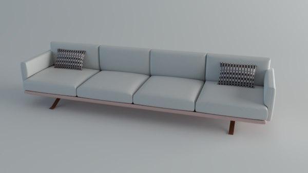 sofa kettal boma 3D model