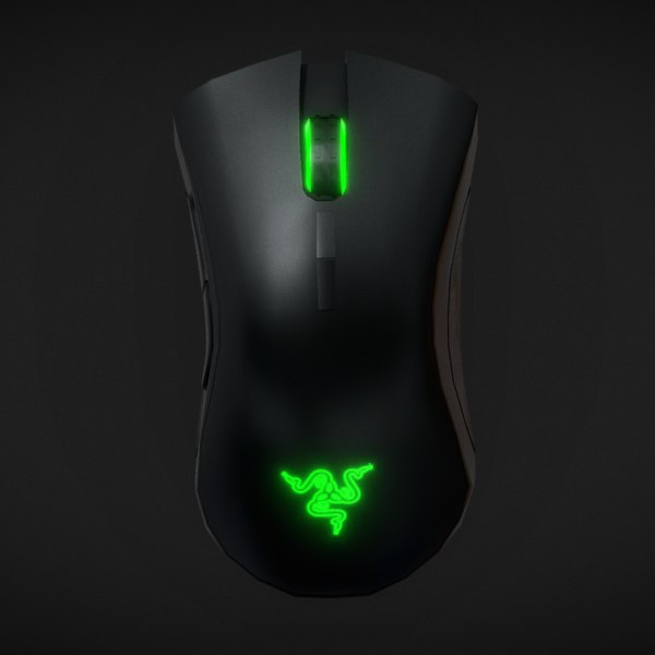 razer death adder elite 3D model