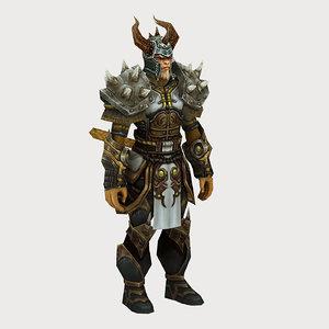 3D heavy armor set 01