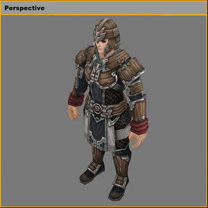 3D light armor set -