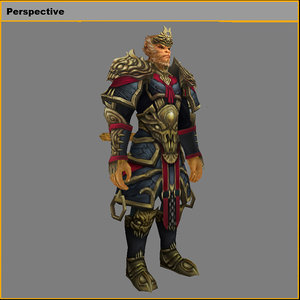 3D model heavy armor set -