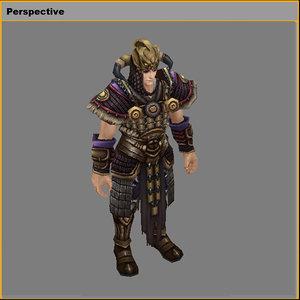 light armor set - 3D model