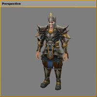 3D light armor set -