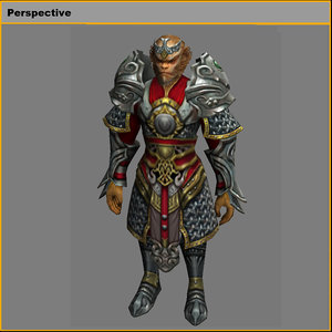 3D heavy armor set - model