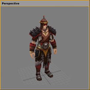 3D light suit - male model