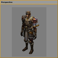 heavy armor set - 3D