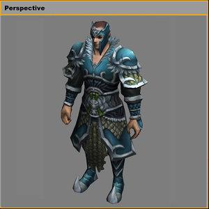 light suit - male 3D model
