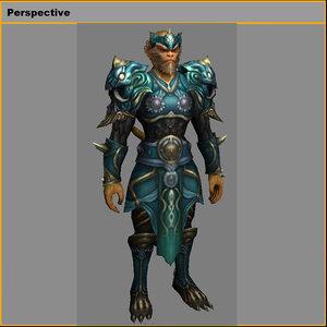 heavy armor set - model
