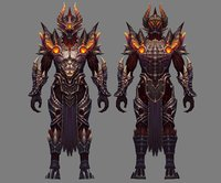 3D heavy armor set -