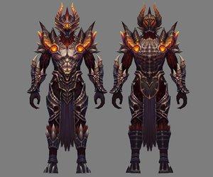 3D heavy armor set -