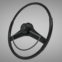 3D chrysler 300 sport steering wheel model