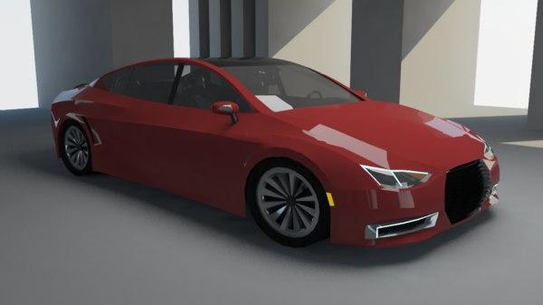 3D executive car