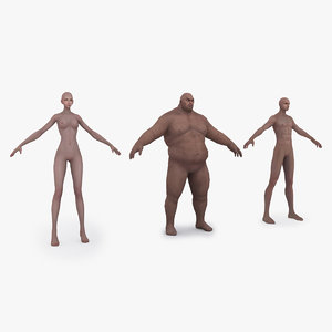 types characters woman 3D model