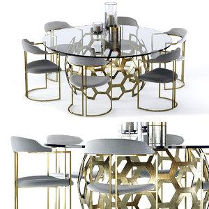 dolma table zephyr chair 3D model