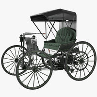 1893 dureya automobile replica 3D model