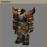 3D heavy armor set - model