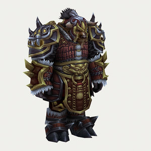 heavy armor set - 3D model