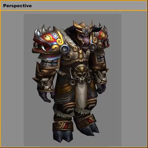 heavy armor set - 3D model