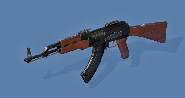 3D ak47 gun