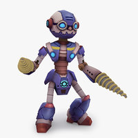 rigged robot type l model