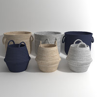 braided basket 3D