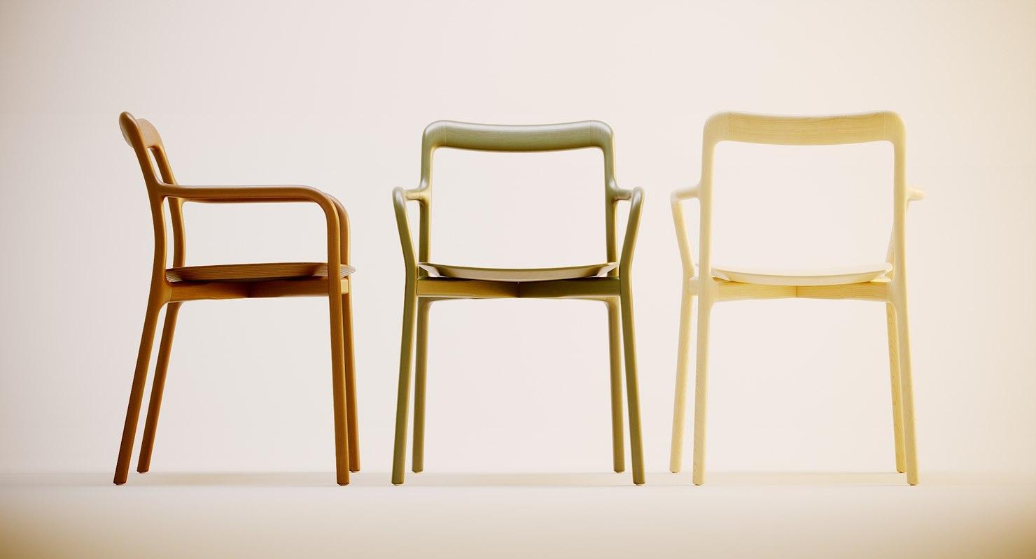 herman miller branca chair 3D model