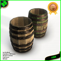 barrel pbr woodenbarrel 3D model