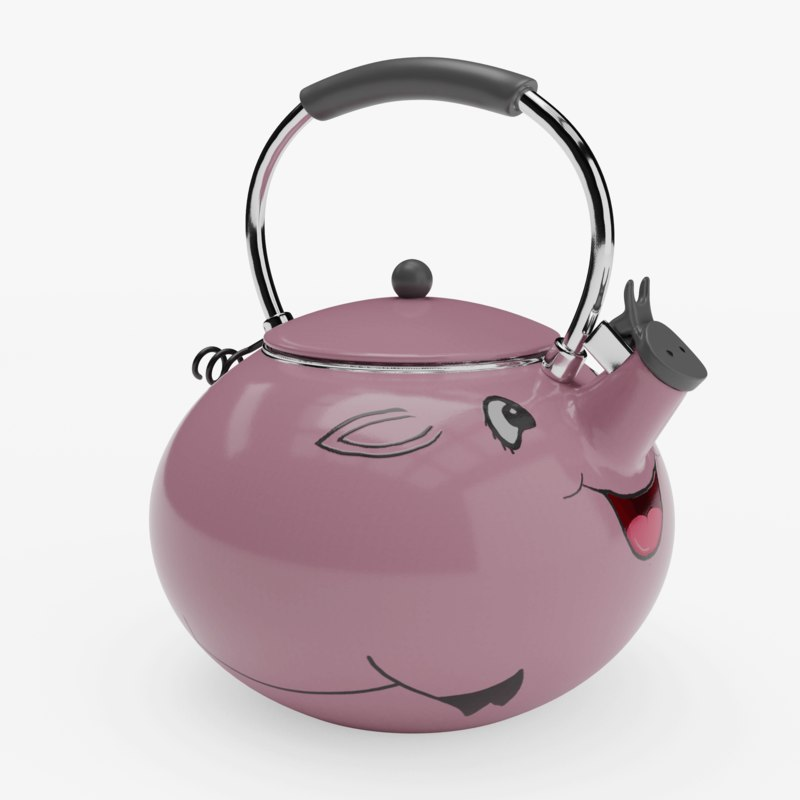 piggy tea kettle decoration 3D