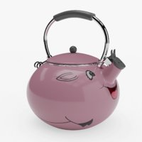 piggy tea kettle decoration 3D