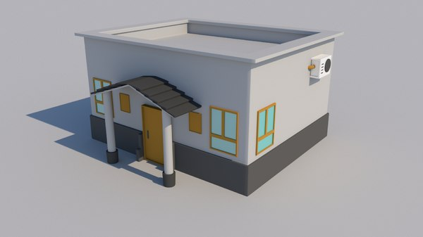 3D model house cartoon
