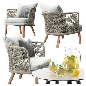 varaschin emma lounge armchair 3D model