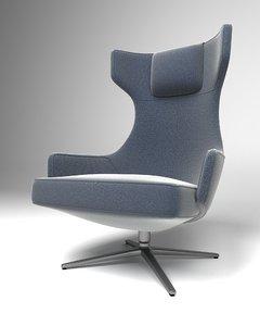 vitra antonio citterio lounge chairs 3D model